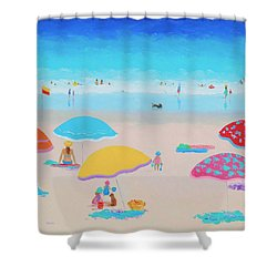 Beach Painting - Ah Summer Days Shower Curtain