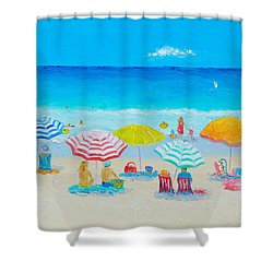 Beach Painting - Catching The Breeze Shower Curtain