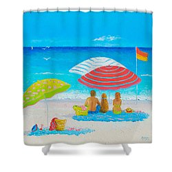 Beach Painting - Endless Summer Days Shower Curtain