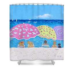 Beach Painting - Lazy Summer Days Shower Curtain