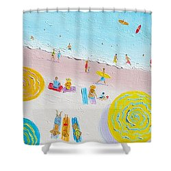 Beach Painting - The Simple Life Shower Curtain by Jan Matson