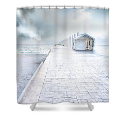 Beach Pier Shower Curtain
