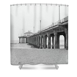 Beach Pier Film Frame Shower Curtain