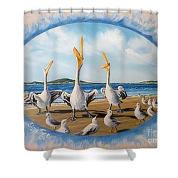 Beach Platoon Shower Curtain