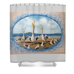 Privileged. Pelican  Procedure Prevailed   Shower Curtain