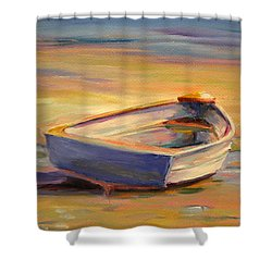 Beach Puddles Shower Curtain by Trina Teele