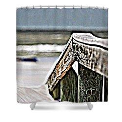 Beach Rail Shower Curtain