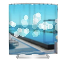 Shower Curtain featuring the photograph Beach Resort Concept by Atiketta Sangasaeng