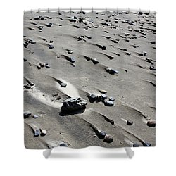 Shower Curtain featuring the photograph Beach Rocks 2 by Joanne Coyle