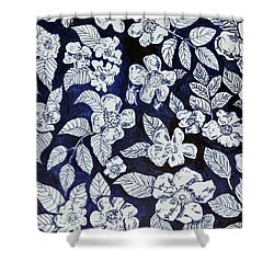 Beach Rose Pattern Shower Curtain