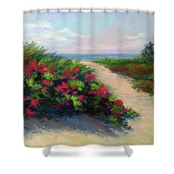 Beach Roses Shower Curtain