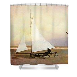 Beach Sailing Shower Curtain