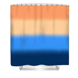 Beach Sand And Water - Sq Block Shower Curtain
