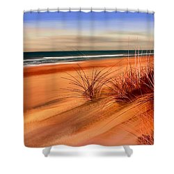Beach Sand Dunes Shower Curtain by Anthony Fishburne