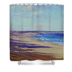 Beach Sand Shadows Shower Curtain