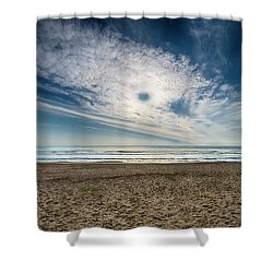 Beach Sand With Clouds - Spiagggia Di Sabbia Con Nuvole Shower Curtain