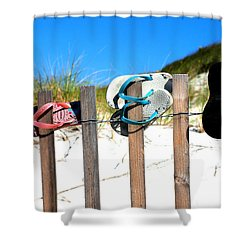 Beach Sandels  Shower Curtain