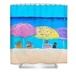 Beach Sands Perfect Tans Shower Curtain