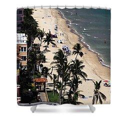 Beach Scene Shower Curtain by David Lee Thompson