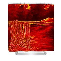 Beach Scene Shower Curtain by Michael Vigliotti