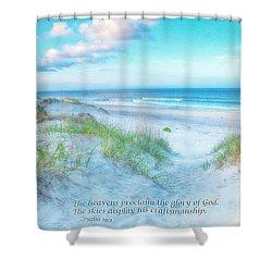 Beach Scripture Verse  Shower Curtain