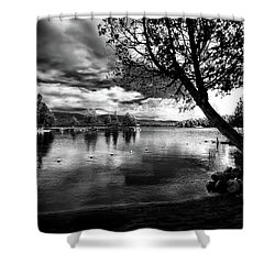 Shower Curtain featuring the photograph Beach Silhouette by David Patterson