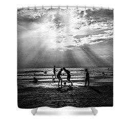 Beach Soccer Shower Curtain