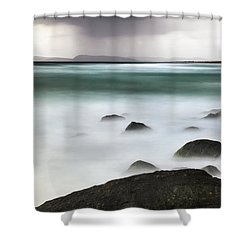 Shower Curtain featuring the photograph Beach Squall by Nicholas Blackwell
