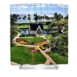 Shower Curtain featuring the photograph Beach Steeple by Michael Albright