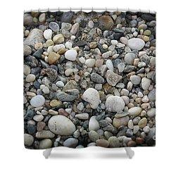 Beach Stones Shower Curtain