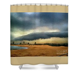 Shower Curtain featuring the photograph Beach Storm At Sunset By Kaye Menner by Kaye Menner