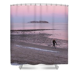 Beach Stroll Shower Curtain by John Scates