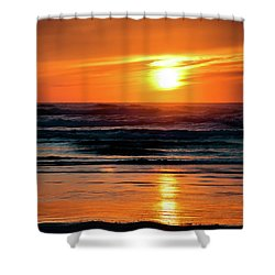 Shower Curtain featuring the photograph Beach Sunset by Bryan Carter