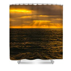 Beach Sunset Delmar/torrey Pines San Diego California Img 2 Shower Curtain by Bruce Pritchett
