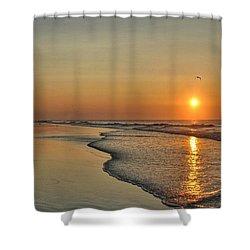 Topsail Nc Beach Sunrise Shower Curtain
