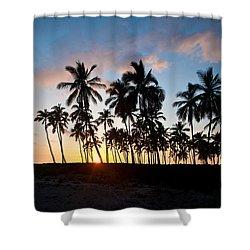 Beach Sunset Shower Curtain by Mike Reid