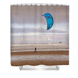 Shower Curtain featuring the photograph Beach Surfer by Wendy McKennon