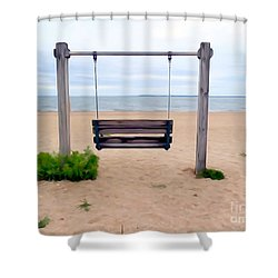 Beach Swing Shower Curtain