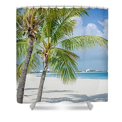 Beach Time In Turks And Caicos Shower Curtain by Mike Ste Marie