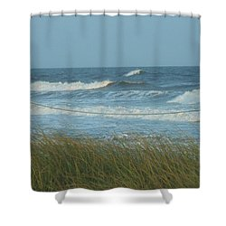 Beach Time Shower Curtain by Jake Hartz