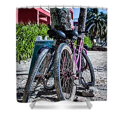 Beach Transportation Shower Curtain
