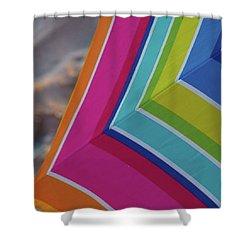 Beach Umbrella.  Shower Curtain