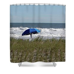 Beach Umbrella Shower Curtain by Denise Pohl