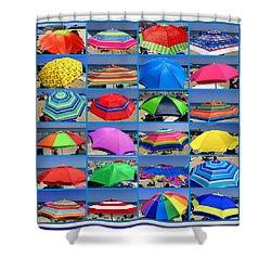 Beach Umbrella Medley Shower Curtain by Mitchell R Grosky