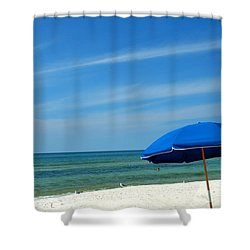 Beach Umbrella Shower Curtain by Susanne Van Hulst