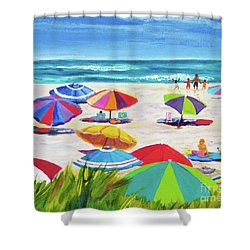Umbrellas 2 Shower Curtain by Anne Marie Brown