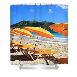 Beach Umbrellas Shower Curtain