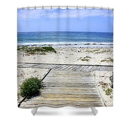 Beach Walk Shower Curtain