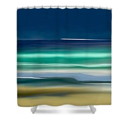 Beach Wave Shower Curtain by Anthony Fishburne