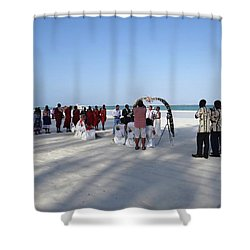 Beach Wedding In Kenya Shower Curtain